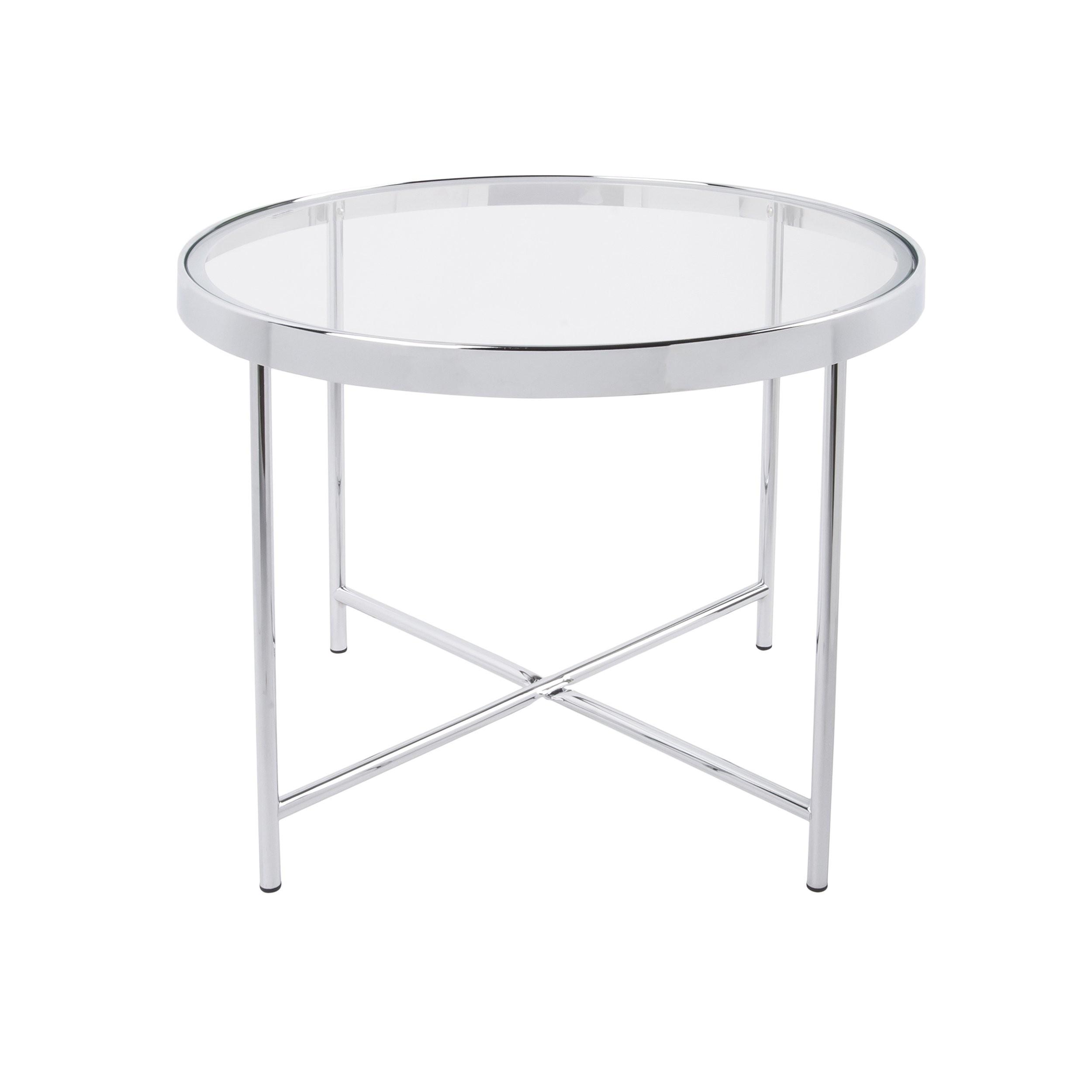 Velký stolek se skleněnou deskou