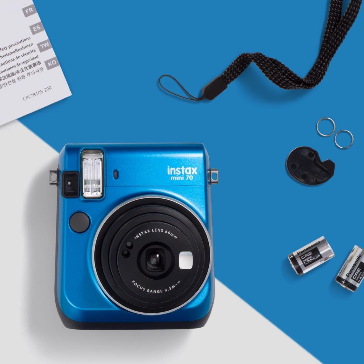 Instantní modrý fotoaparát Mini 70