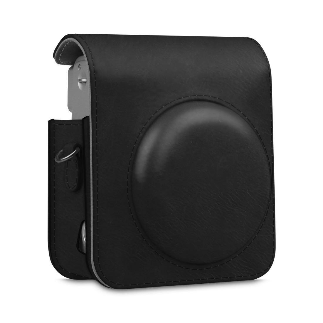 Černý kožený obal na Instax Mini 90