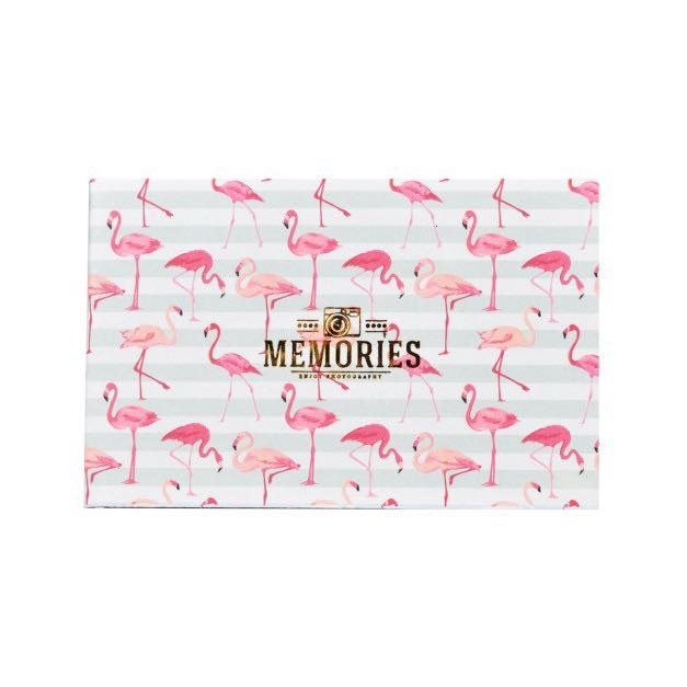 Flipbook fotoalbum Flamingo Stripe Mini