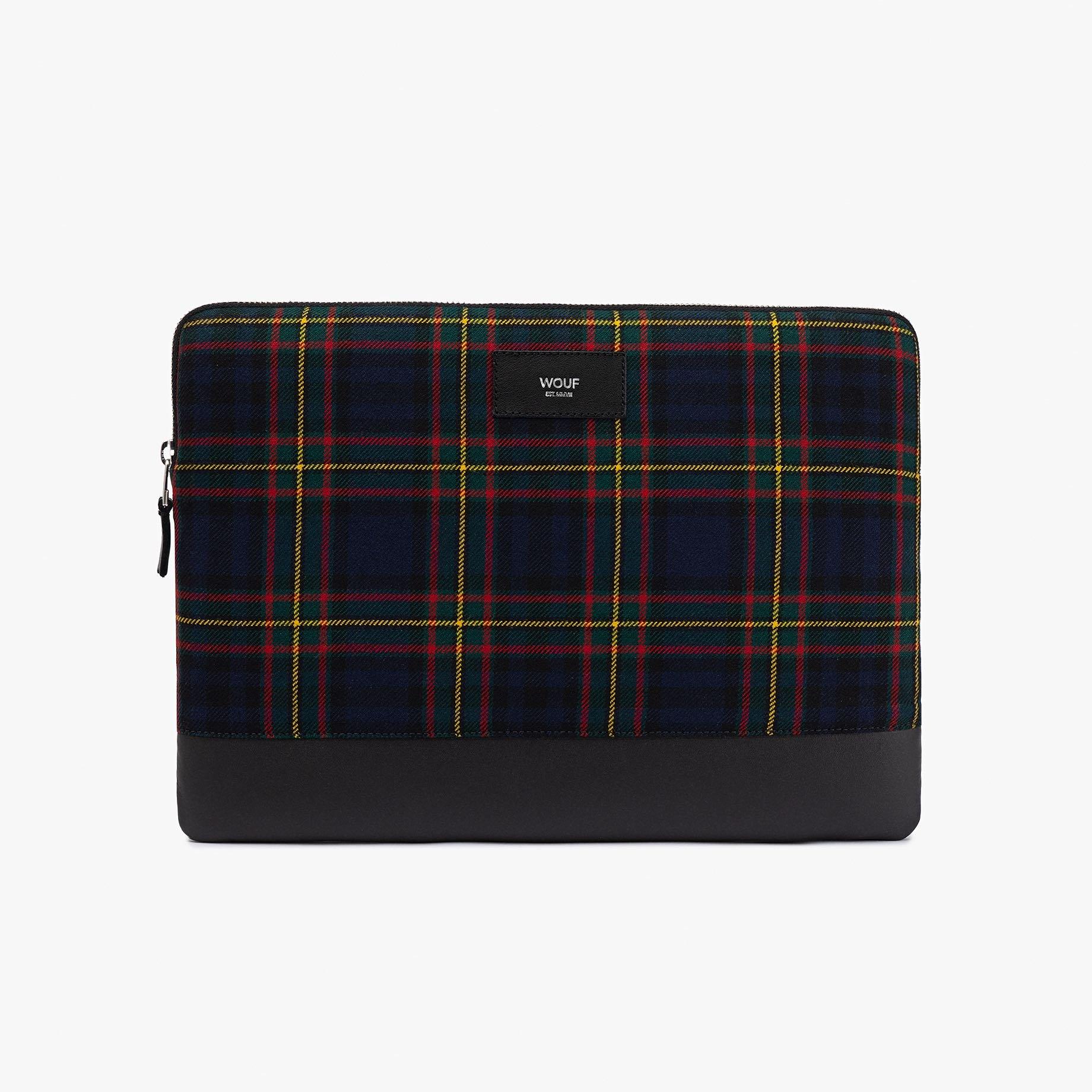 """Modré tartanové pouzdro na notebook 13"""" Scotland WOUF"""