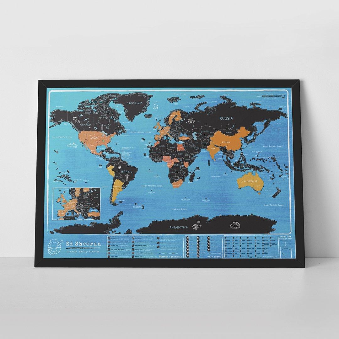 Ed Sheeran mapa sveta