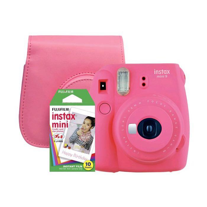 Sada růžový instantní fotoaparát Mini 9 + obal + 10 ks film 8e82ad1362f