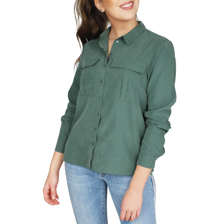 171ce85e48e0 Zelená košile z modalu Vishala – 34