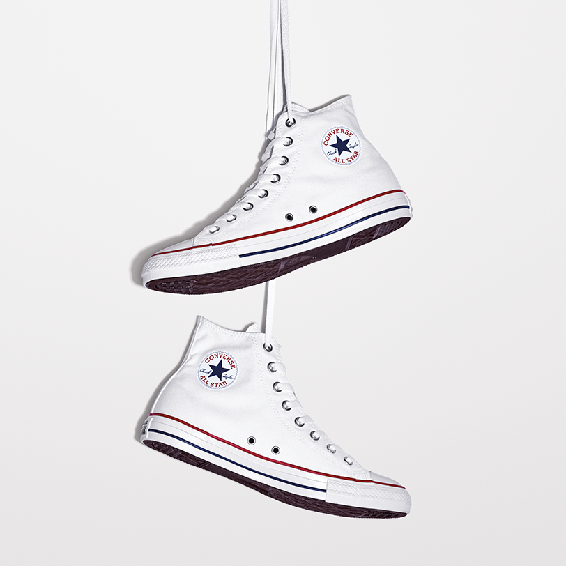 CONVERSE Chuck Taylor All Star Hi: Optical White – 40, bílá