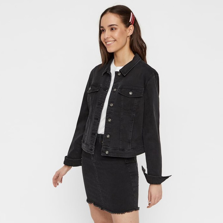 Černá džínová bunda Pcaia – S