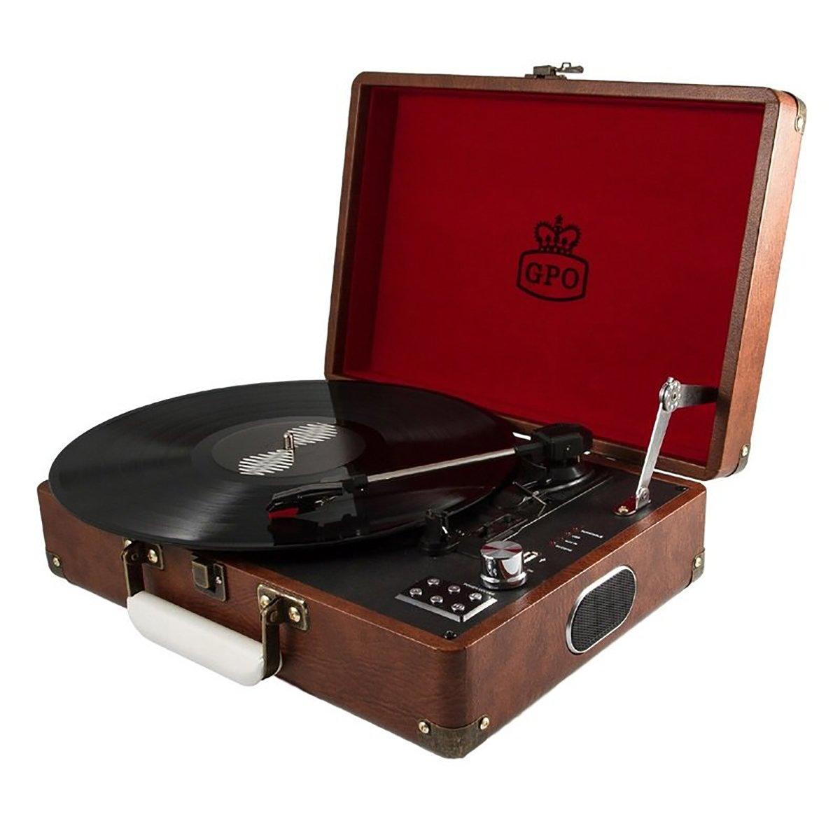 Gramofon Attache Brown