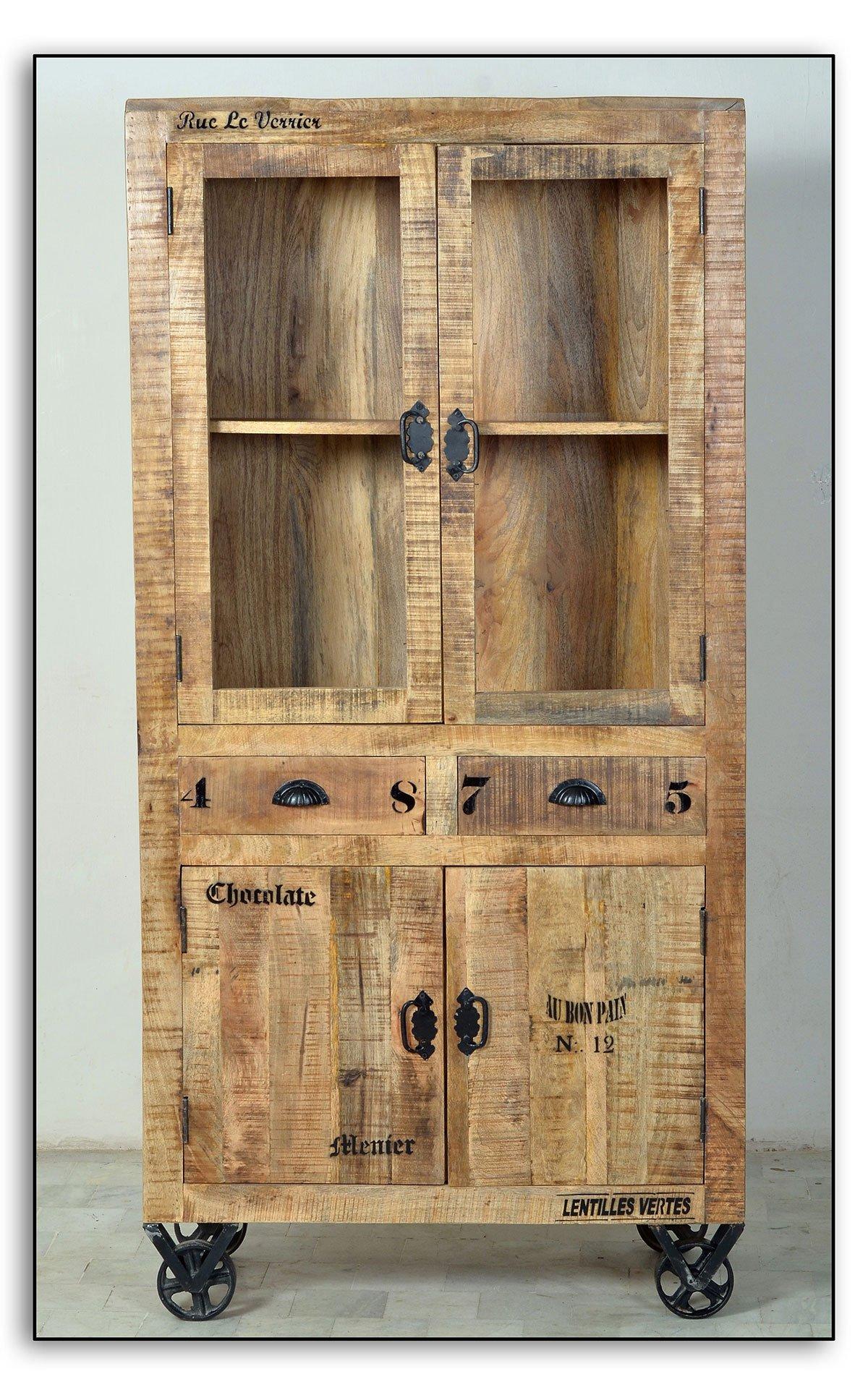 Levně SIT MÖBEL Vitrína RUSTIC – 90 × 40 × 180 cm