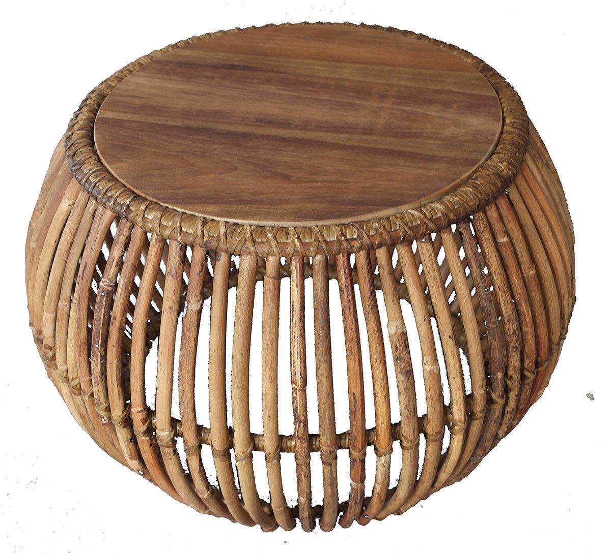Konferenční stolek RATTAN – 60 × 60 × 45 cm