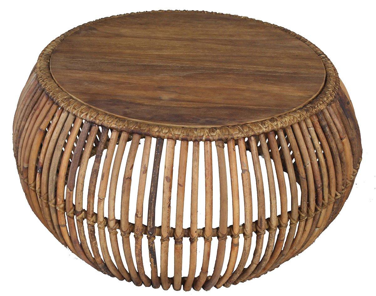 Konferenční stolek RATTAN – 80 × 80 × 40 cm