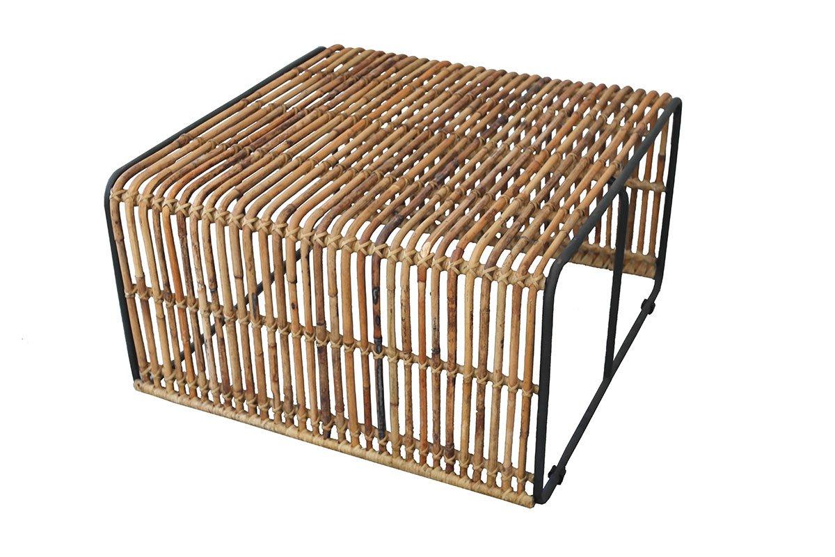 Konferenční stolek RATTAN – 80 × 80 × 45 cm