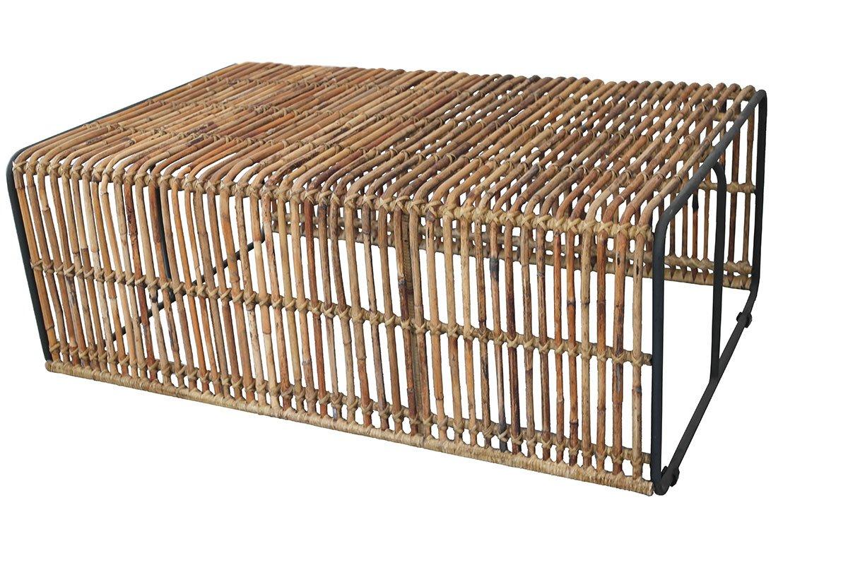 Konferenční stolek RATTAN – 80 × 120 × 45 cm
