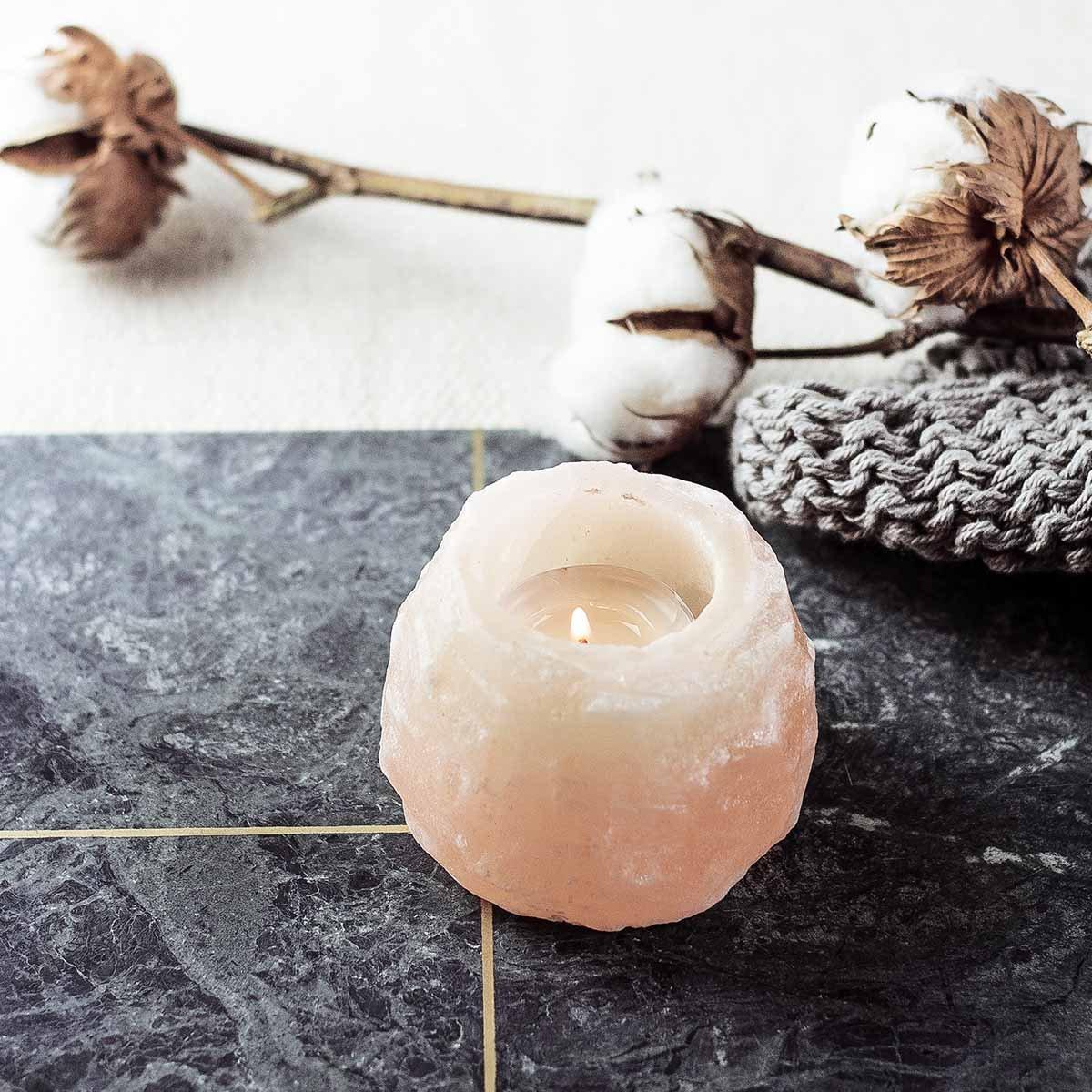 Solný krystal na čajovou svíčku Mini