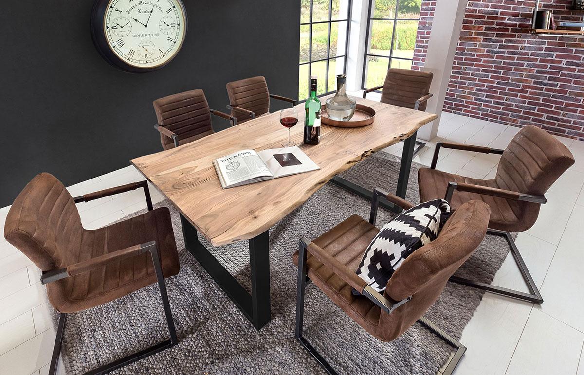 Jídelní stůl TABLES & BENCHES CURVE-RECTANGLE – 120 × 80 × 77 cm