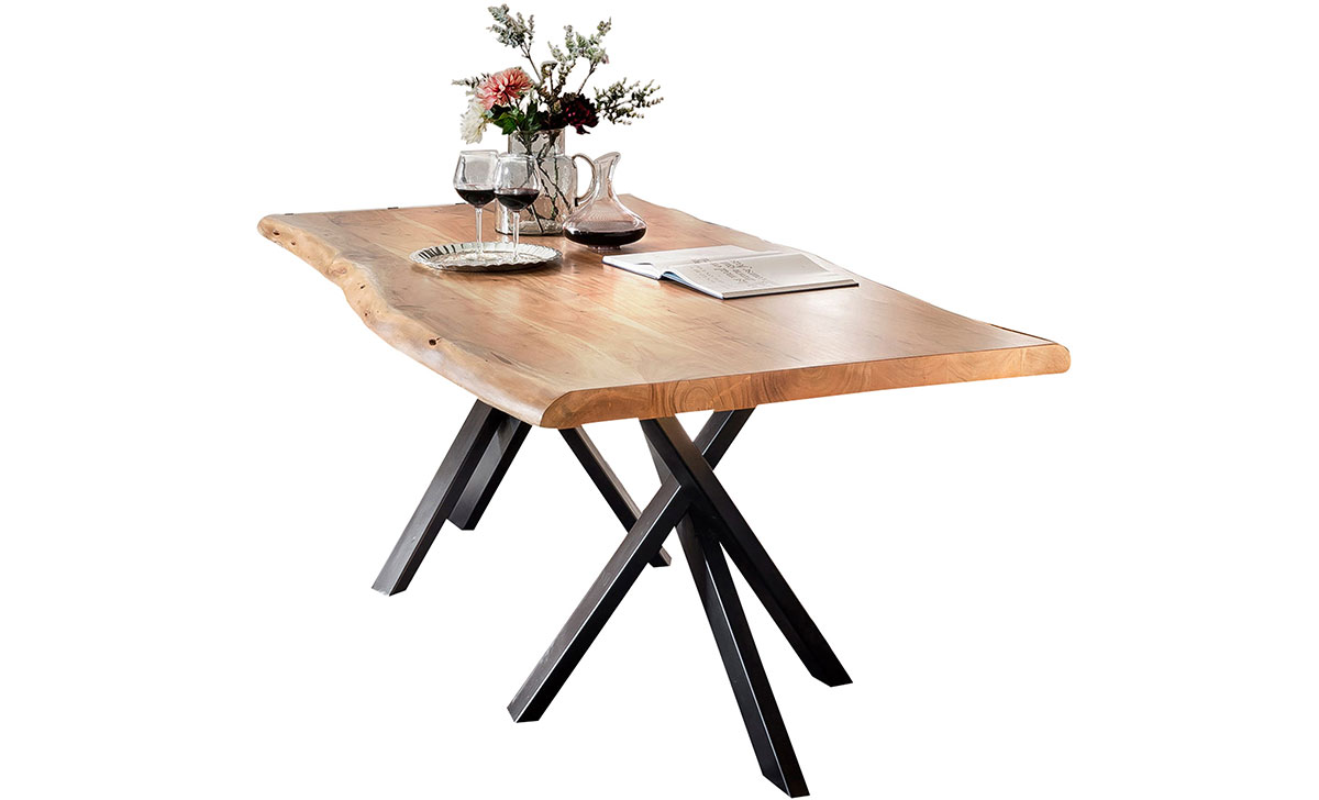SIT MÖBEL Jídelní stůl TABLES  BENCHES CURVE-DOUBLE STAR – 160 × 85 × 76 cm