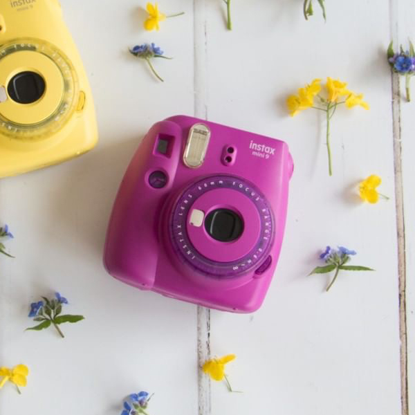 Sada fialový instantní fotoaparát Mini 9 Clear + 10 ks film
