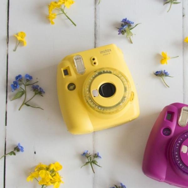 Sada žlutý instantní fotoaparát Mini 9 Clear + 10 ks film