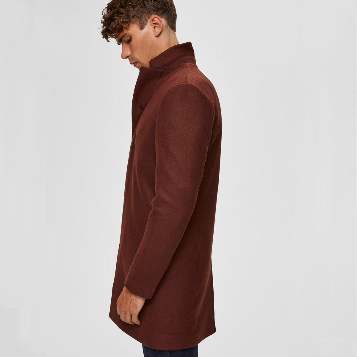SELECTED HOMME Vlněný kabát Slhbrove Wool Coat B – M