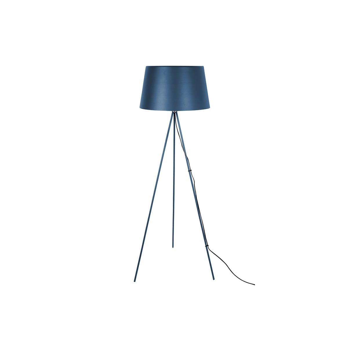 Stojací lampa Classy Metal – tmavě modrá