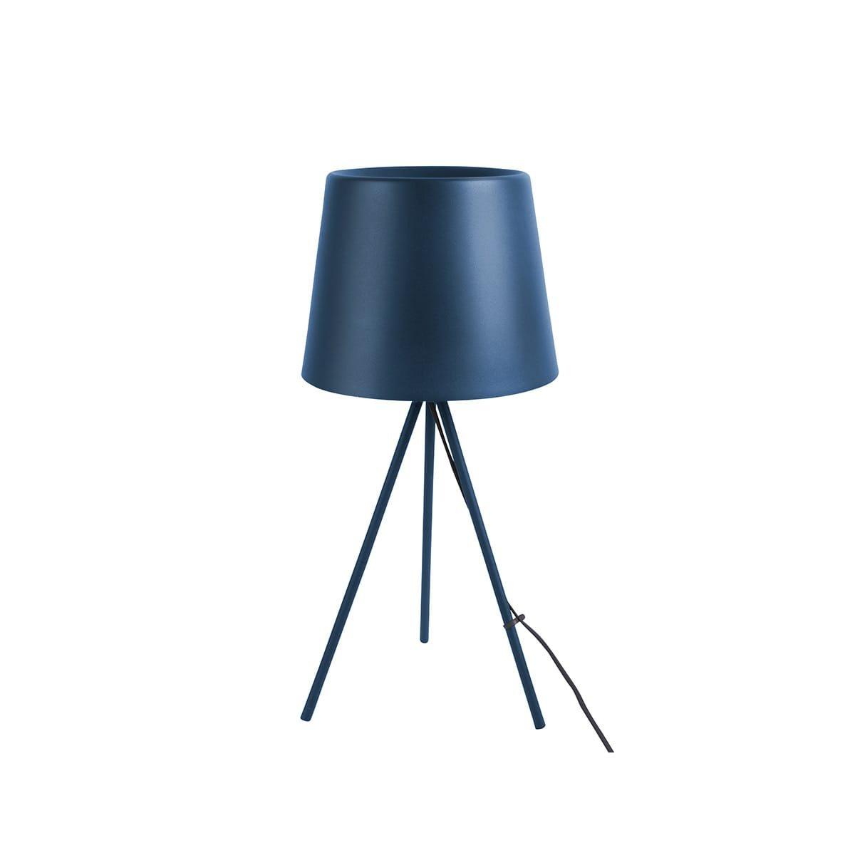 Stolní lampa Classy Metal – tmavě modrá