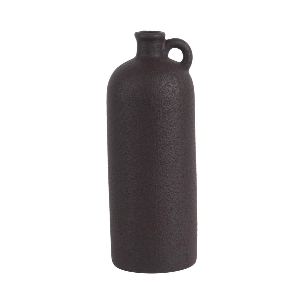 Sada 3 ks: Černá keramická váza Burly Bottle - velká Present Time