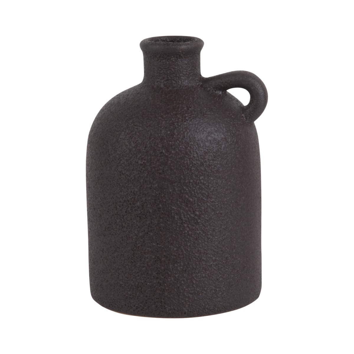 Sada 3 ks: Černá keramická váza Burly Bottle - střední Present Time