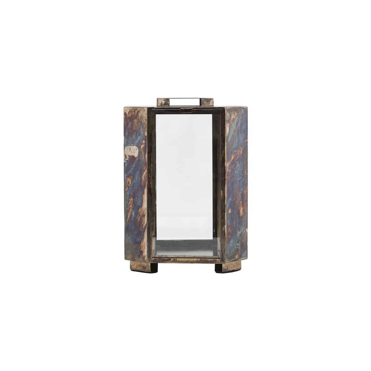 Sada 2 ks: Železná lucerna Baazi – 28 cm