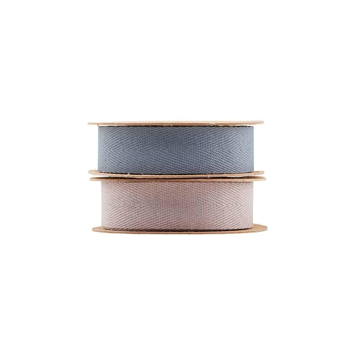 Sada 4 ks: Stuhy Herrinbone – hnědá, modrá – 2 ks