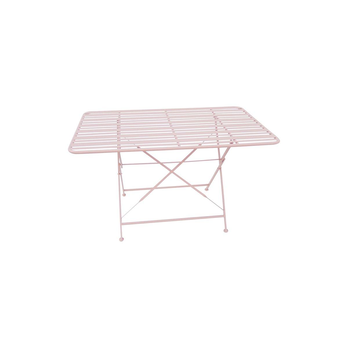 Růžový venkovní stůl Lines
