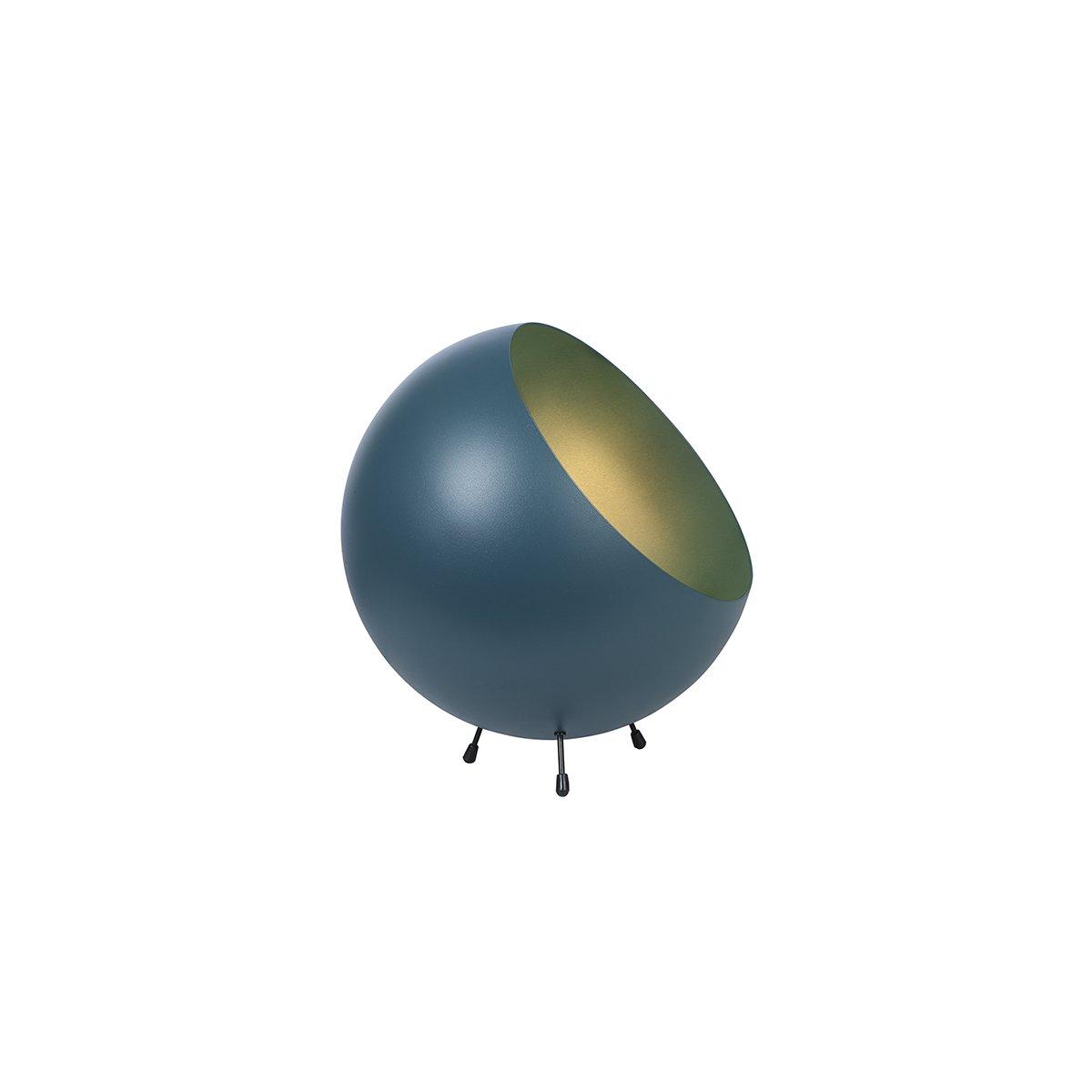Sada 2 ks: Matná modrá stolní lampa XL Bell