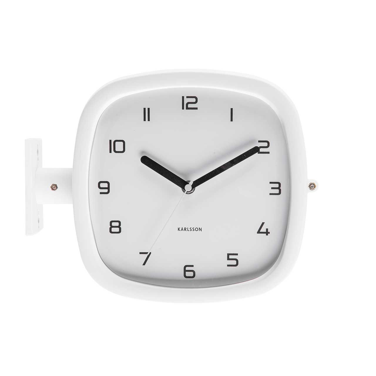 Nástěnné hodiny Doubler – bílé