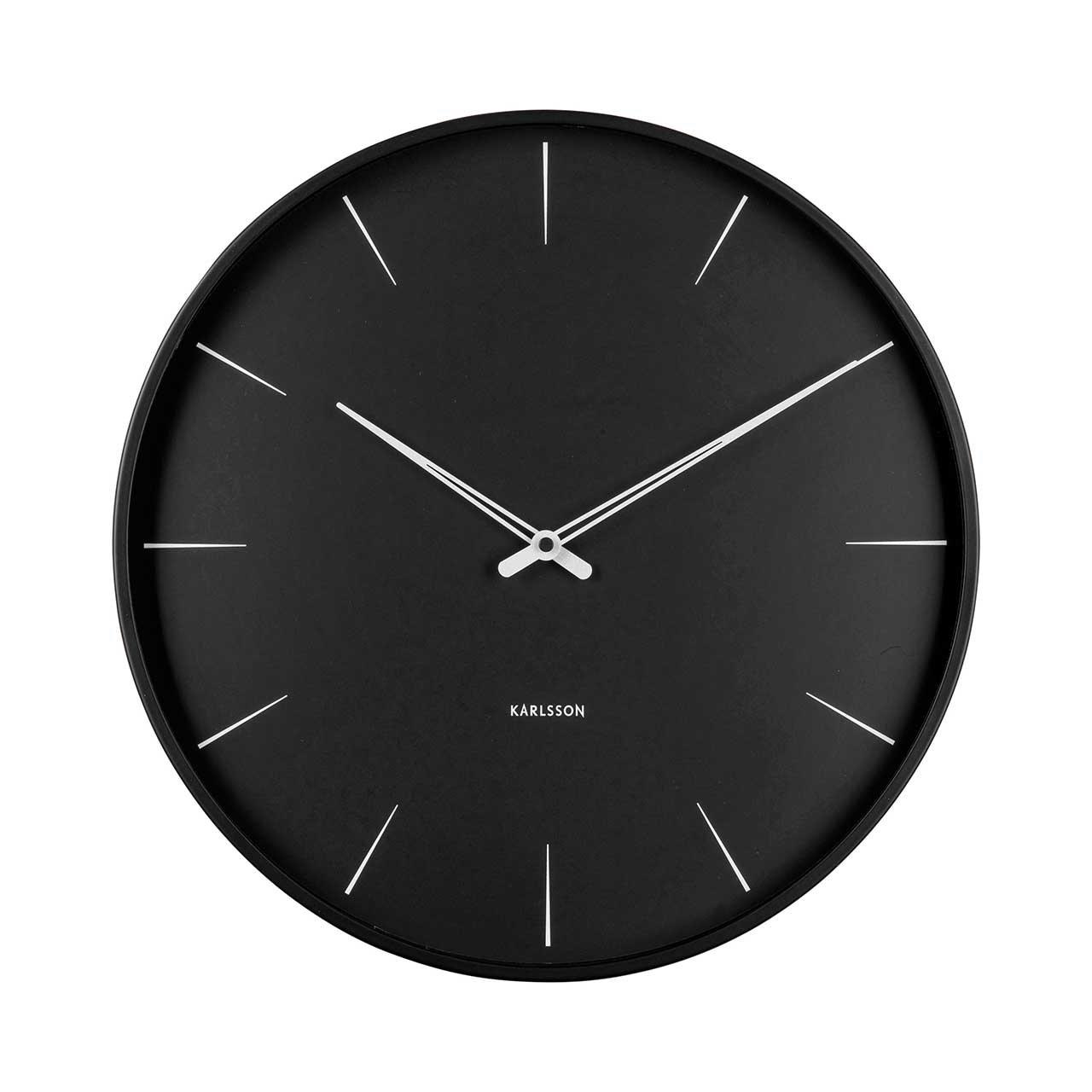 Nástěnné hodiny Lure – černé