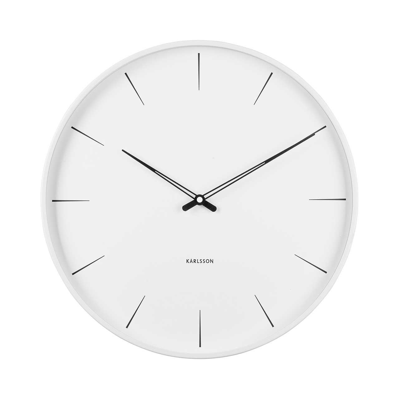 Nástěnné hodiny Lure – bílé