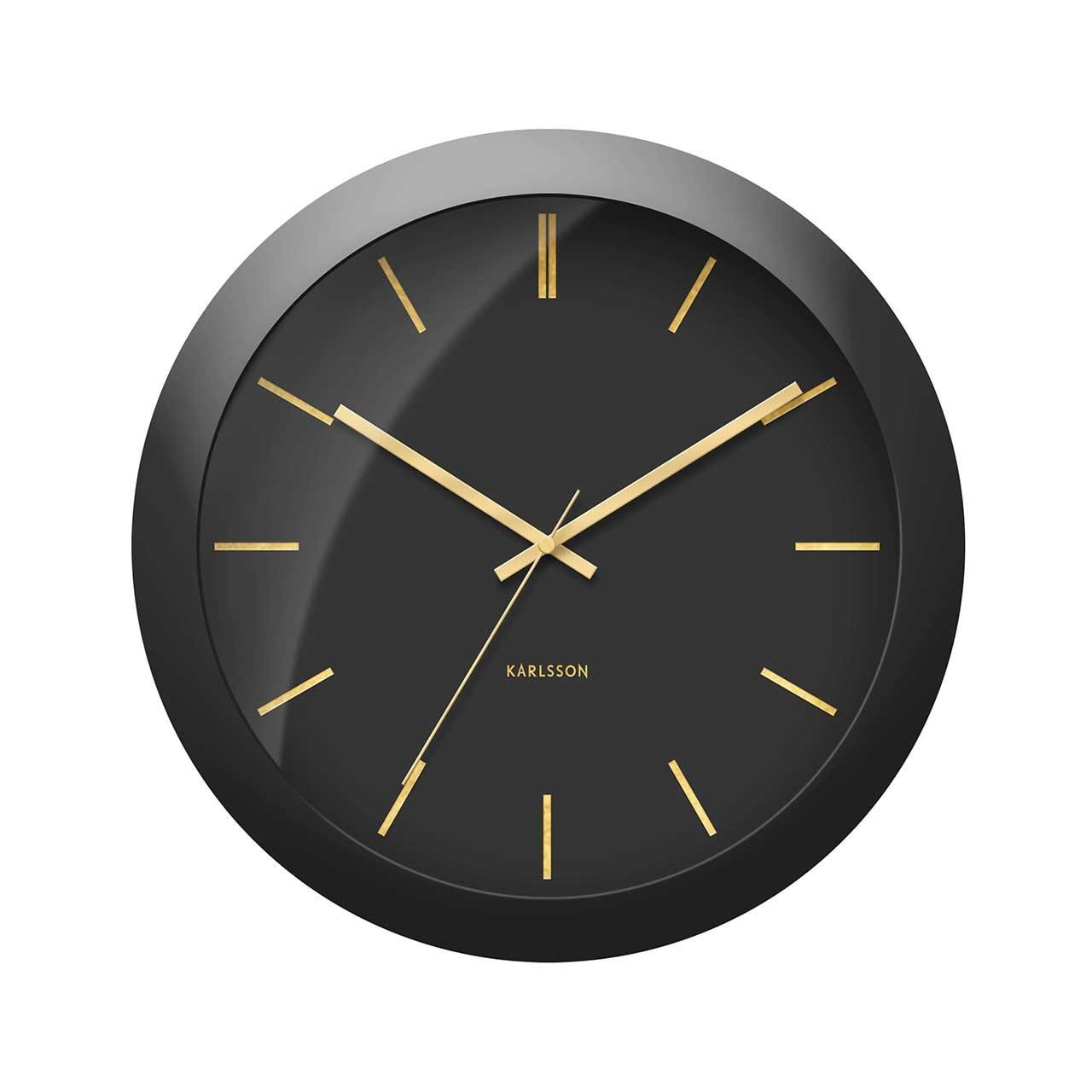 Nástěnné hodiny Globe – černé