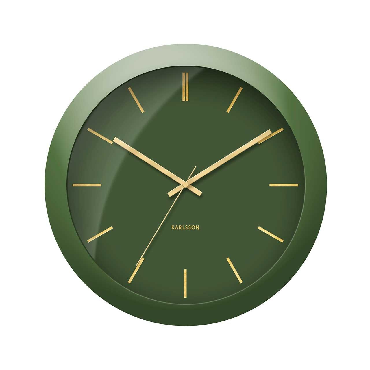 Nástěnné hodiny Globe – zelené Karlsson