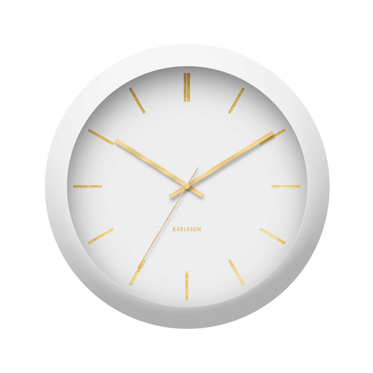 Nástěnné hodiny Globe – bílé