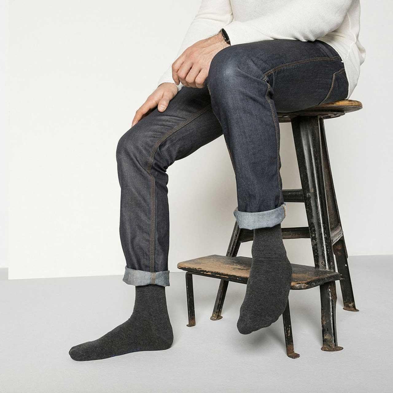Šedé bavlněné ponožky Cotton Sole – 39 - 41