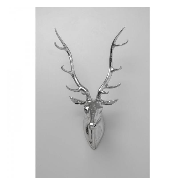 Dekorace na zeď Deer – stříbrná