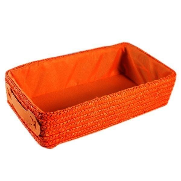 Košík s látkou – Nela – oranžový