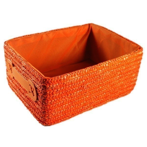 Košík s látkou – Rita – oranžový