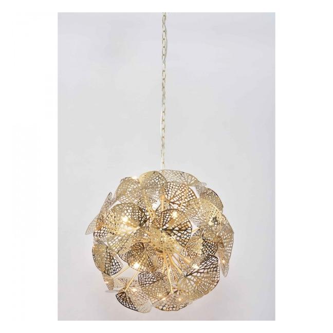 Lustr Leaf Ball – zlatý