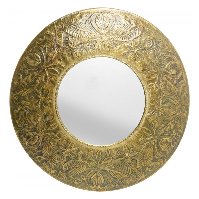 KARE DESIGN Mirror Meadow, Ø110 cm – zlatá