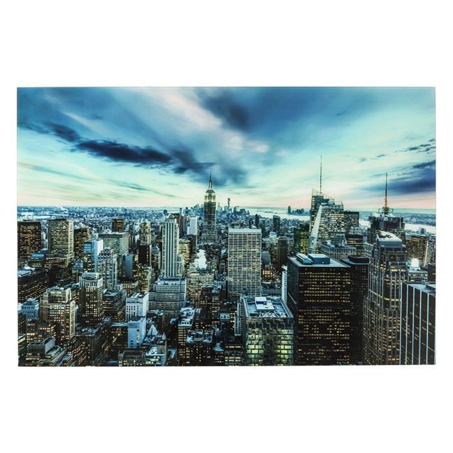 KARE DESIGN Obraz na skle New York Sunset 160×120 cm