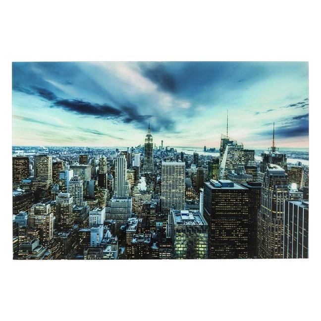 Obraz na skle New York Sunset 160×120 cm