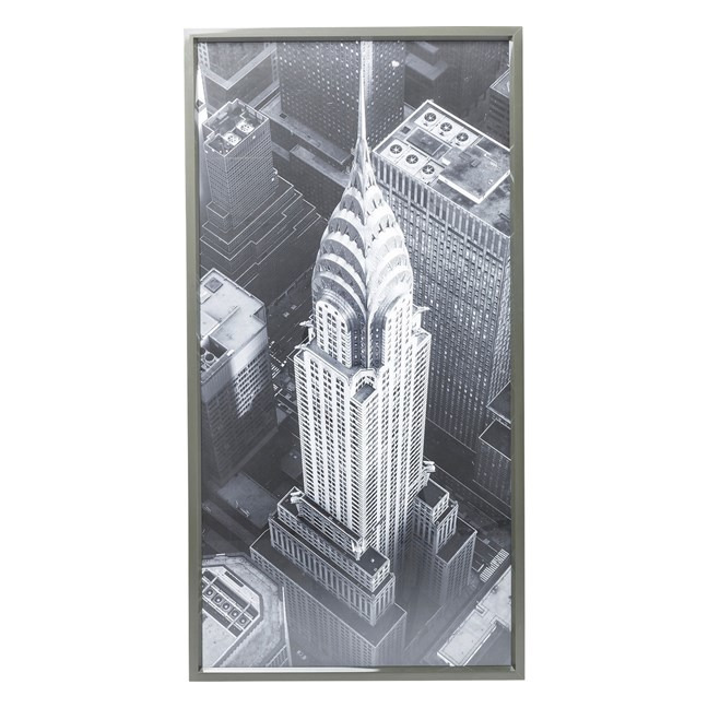 KARE DESIGN Obraz s rámem Chrysler Building View 166x86 cm