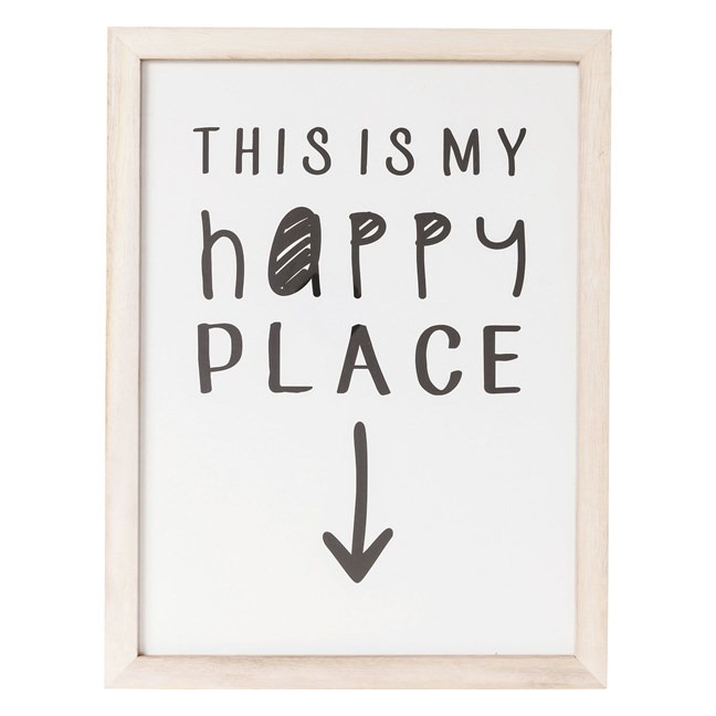 KARE DESIGN Sada 2 ks – Obraz s rámem My Happy Place 50×38 cm