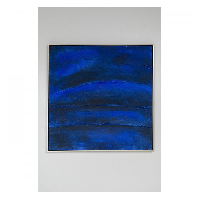 KARE DESIGN Olejomalba Abstract Deep Blue 80×80 cm
