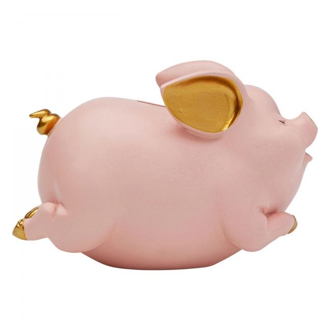 Levně KARE DESIGN Sada 2 ks – Pokladnička Pig – růžová