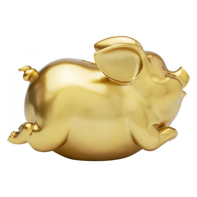 Sada 2 ks – Pokladnička Pig – zlatá