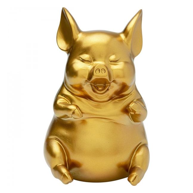 Sada 2 ks – Pokladnička Pig Sitting – zlatá